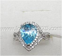 Big Center Stone Cubic Zirconia Fashion Rings Jewelry