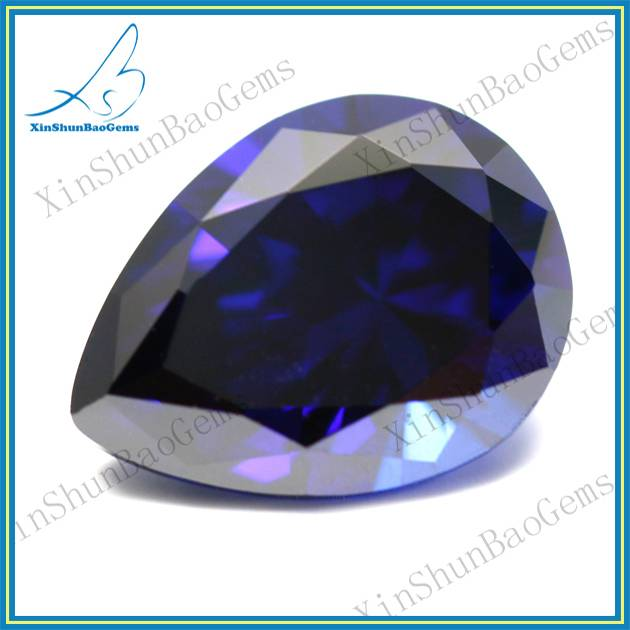 Wholesale pear cut blue semi precious stone