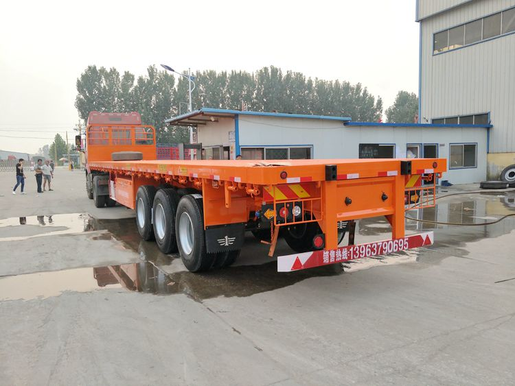 3 Axles 60 Tons 13m Container Carrying flatbed trailers