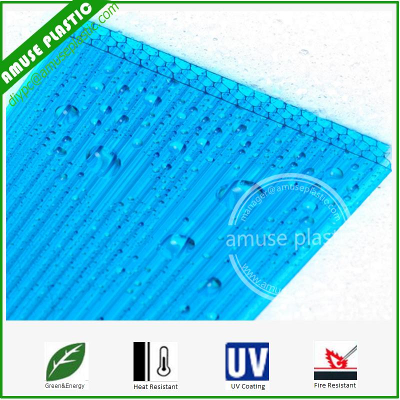 Makrolon 8mm 10mm PC Honeycomb Sheet Unbreakable Plastic Policarbonato Laminas