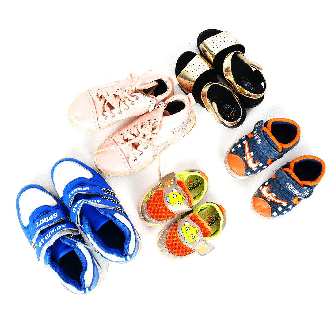 China Factory Mix Used Children Shoes Used Clothes and Shoes Used Shoes in Bales