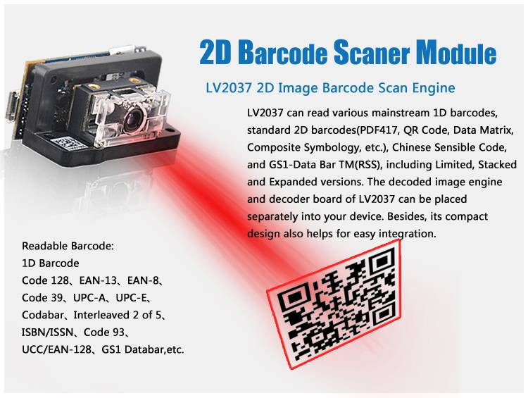 LV2037 Online Barcode Generator ,could Read The Lable With