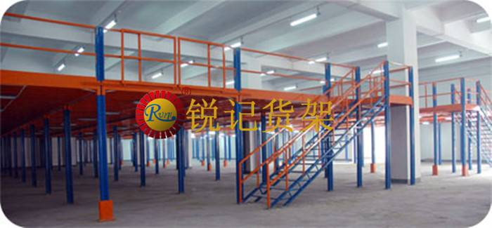 Customized multi-level  mezzanine rack floor shelving