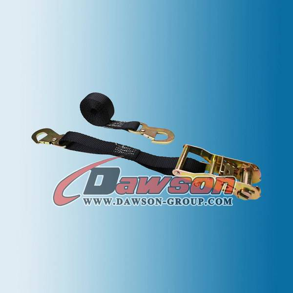 1 inch Ratchet Straps with Flat Snap Hooks