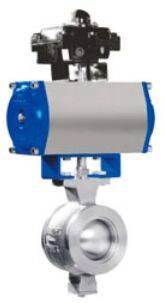 pnuematic v-type ball valve