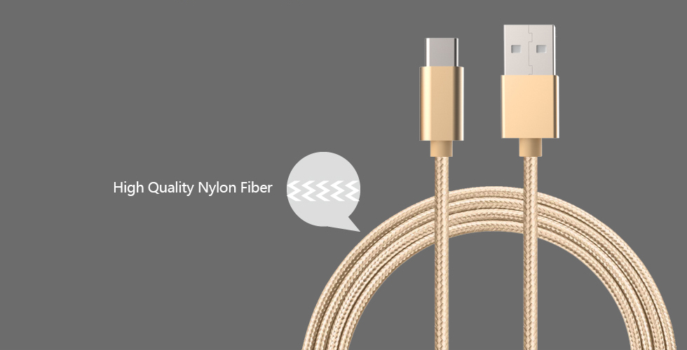 Nylon Braided Aluminum Case USB Type-C Data Cable with Fast and Powerful Transmission