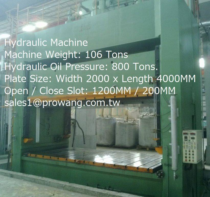 Hydraulic Machine 800 Ton