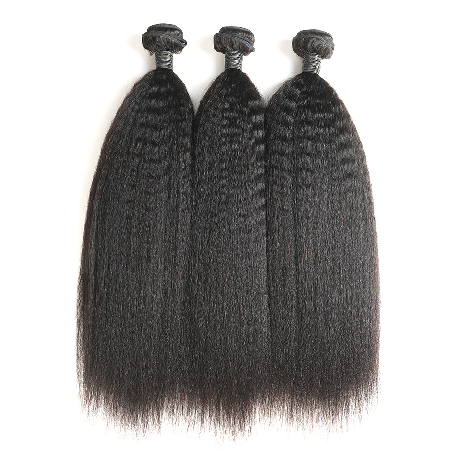 9A Indian Kinky Straight 4 Bundles Human Virgin Hair Weave