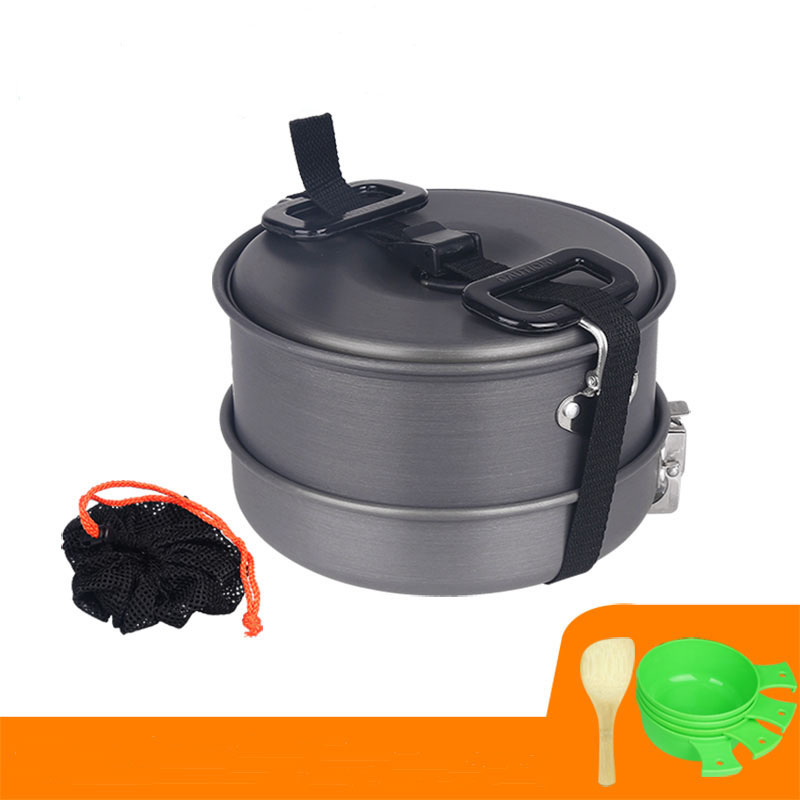 Portable camping cookware mess kit