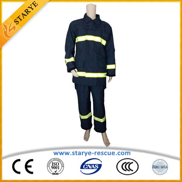 Anti Fire Suit IIIA Aramid Navy Blue Fire Fighting Suit
