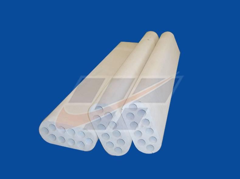 Ten-hole corundum tube