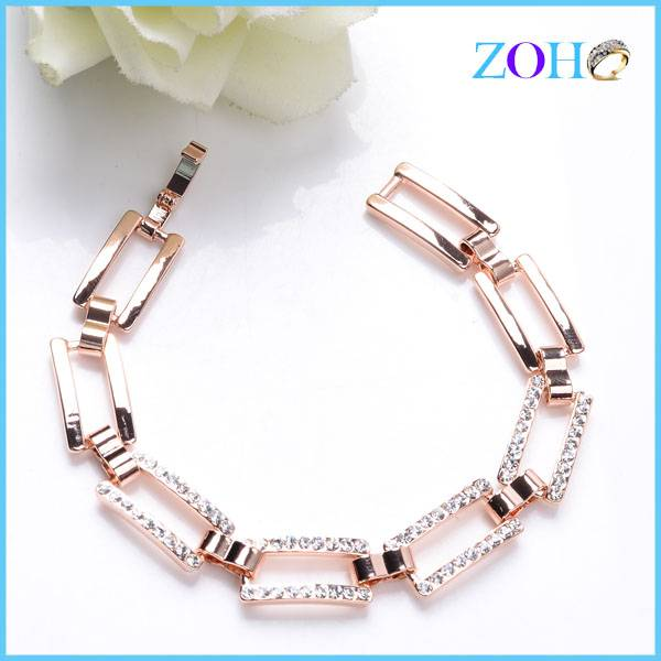 Fine belt chain link gold plating braclets jewelry custom beacelet jewelry manufacturers china