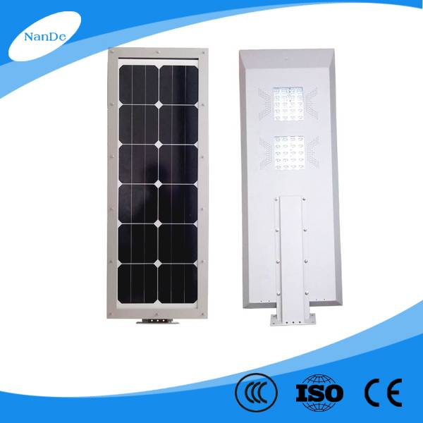 Nande Solar lithium battery solar street light for projects