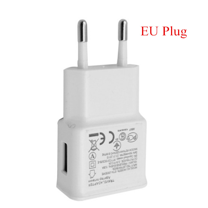 For Samsung Galaxy S3 S4 S6 S7 Charger Travel Adapter EU US 1m USB Charging