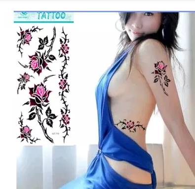 Water proof Fashionable sexy decorative tattoo sticker