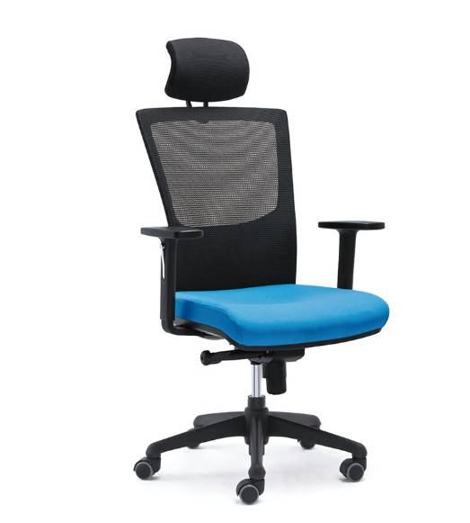 mesh staff chair with headrest LS-125