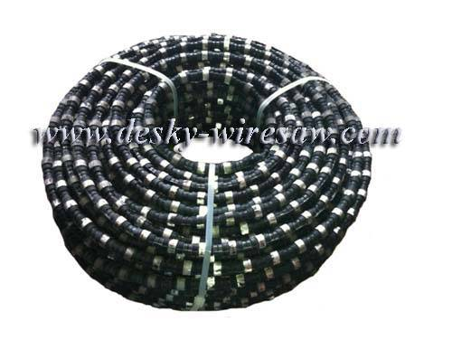 diamond wire saw with 40 beads 11.0mm diameter for granite block squaring rubber sintered