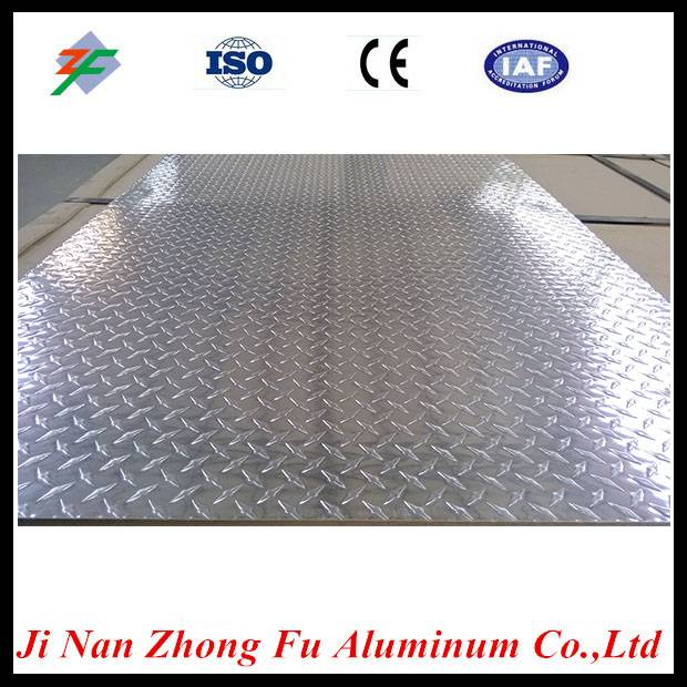 High quality 3003 1.0mm h24 Pointer Pattern Aluminum Checker Plate