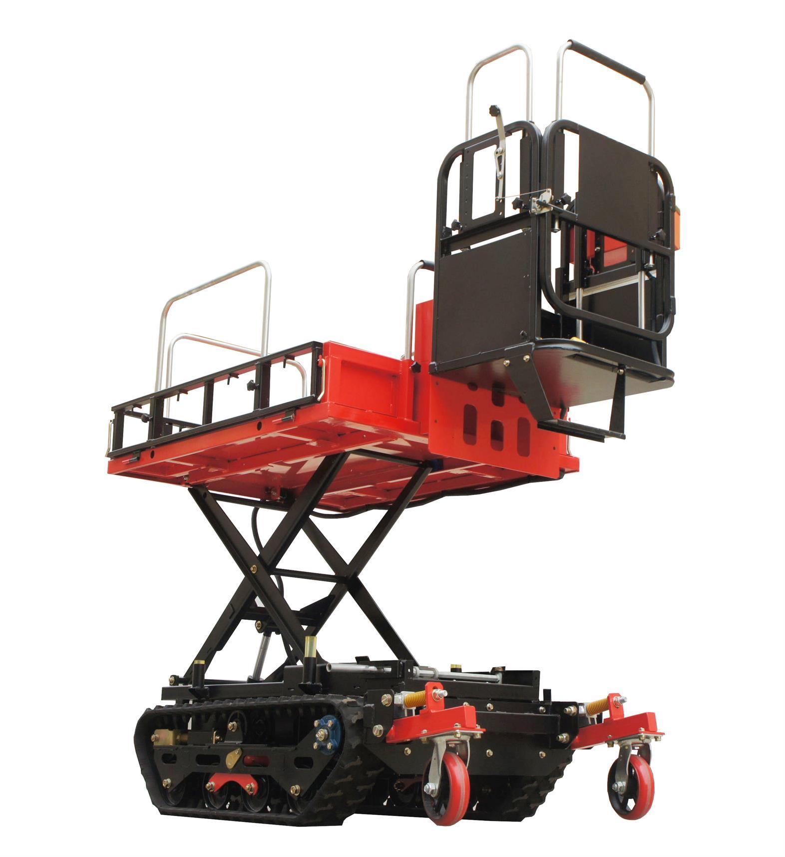 mini garden electric crawler type multifunction work platform