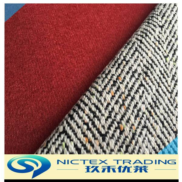 checked wool polyester fabric
