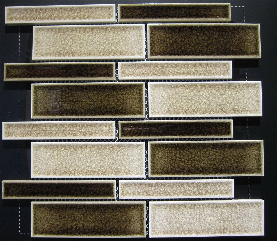 Strip Ice crackled glazed mosaic