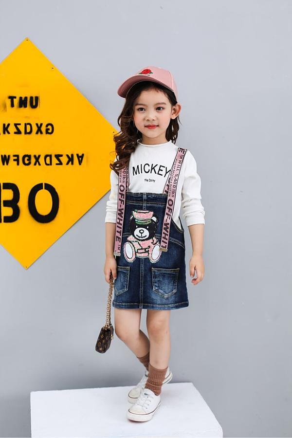 Kids Overalls Jeans Skirt For Girls Children's Pants Exporter