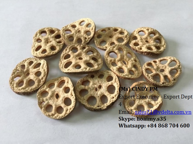 DRIED SLICE LOTUS ROOT FOR TEA OR FOOD MS CINDY 84 (0) 868 704 600
