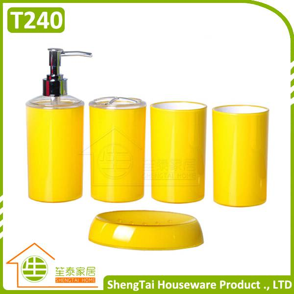 Candy Color Multi Use Family 4 Pieces Bathroom Accessories Sets For Personal