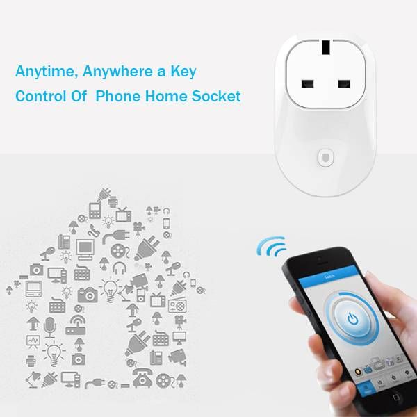 WS24 BS UK Wifi Smart Home Apps Controlled Socket