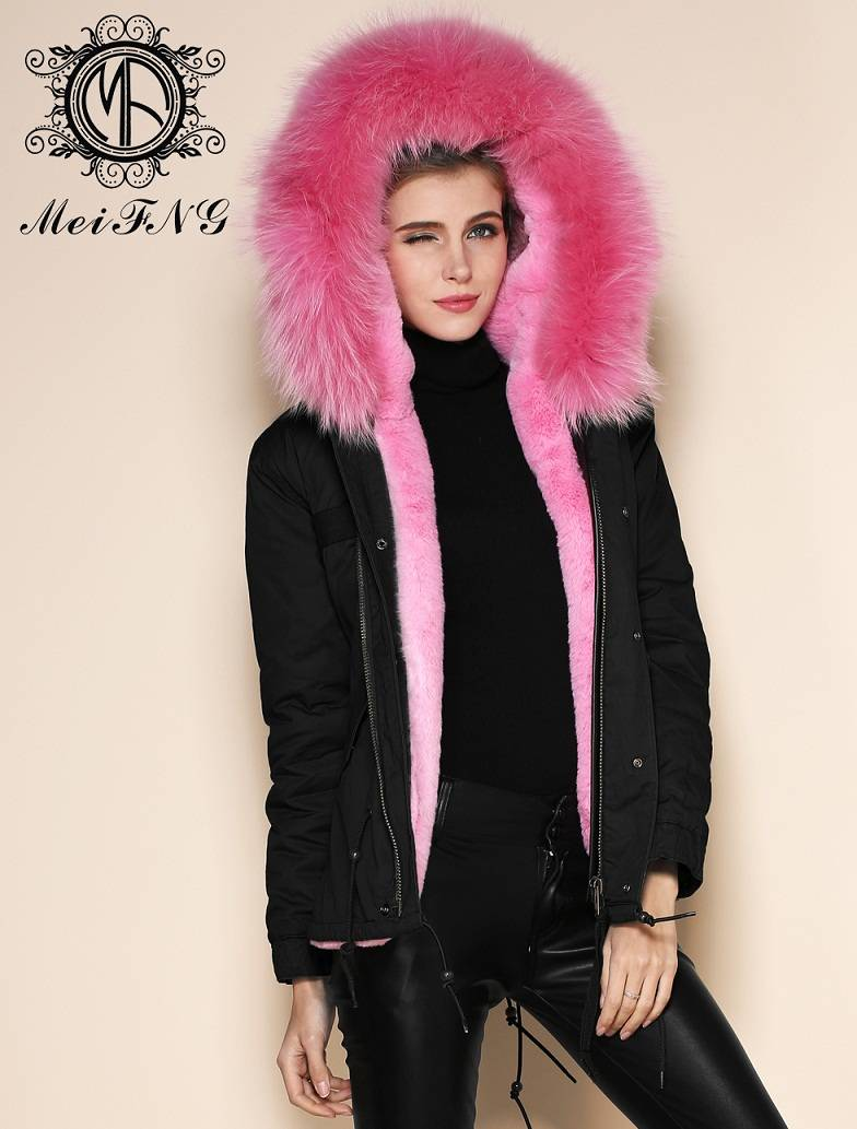 Women's casual jackets with faux fur lining