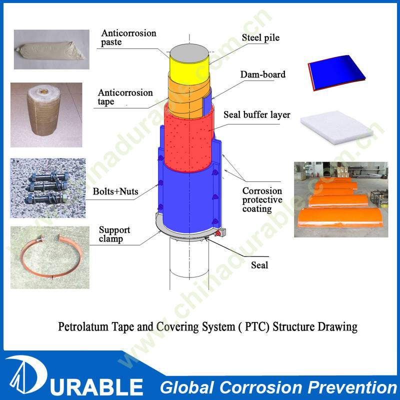 Marine anti-corrosion steel and concrete pile protection system