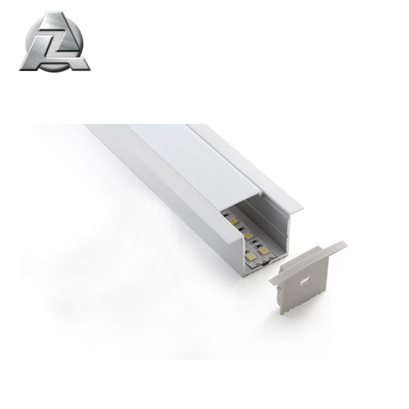 silver anodized led strip aluminum profile with cover