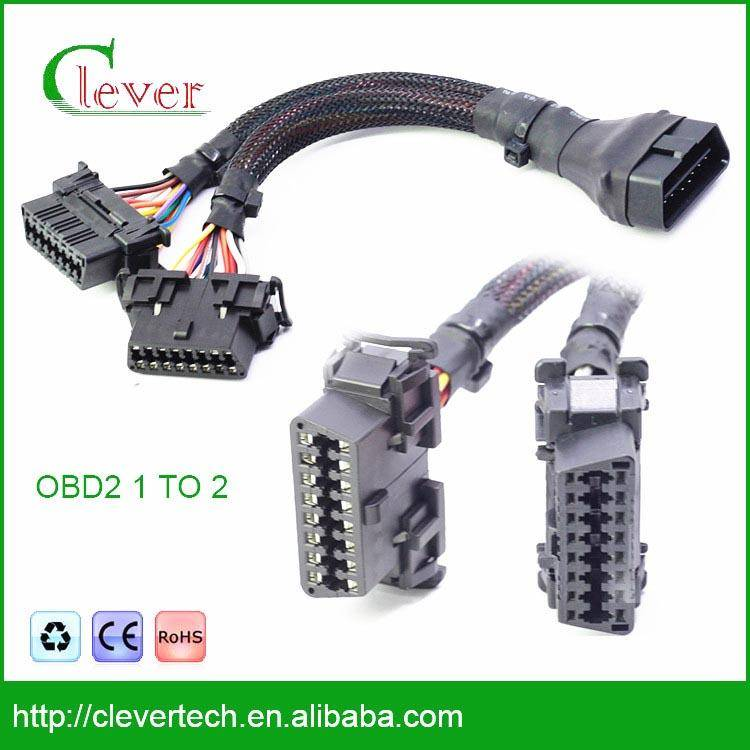 high-quality 16pin j1962 obd2 cable 1 to 2 for hongda Hot selling