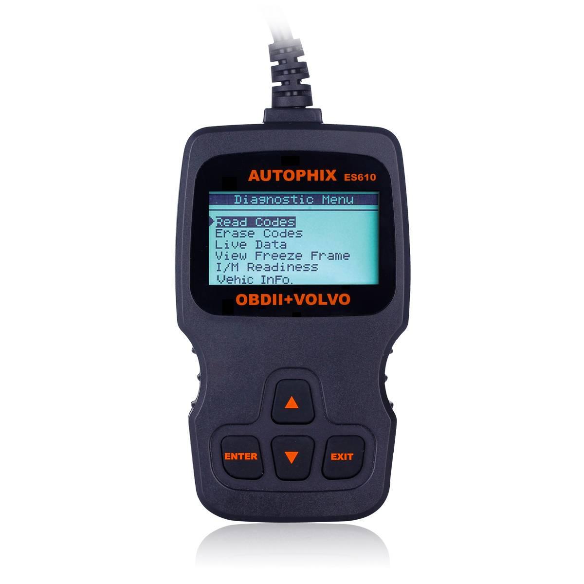 Autophix ES610 ABS SRS Airbag Transmission Volvo Diagnostic Scan Tool OBD2 EOBD Code Reader