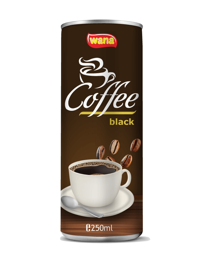 Wana Black Coffee in 250ml Can