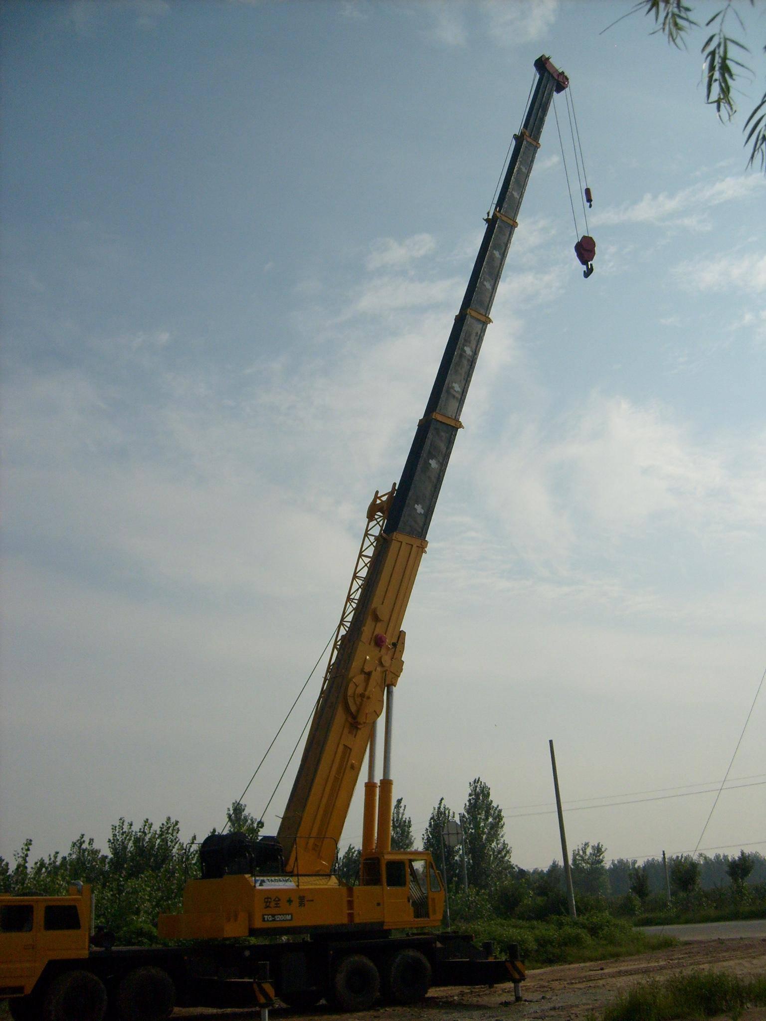 Used mobile crane  tadano TG1200 ,tadano used truck crane 120t