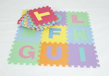 eva alphabet foam mat for child educational toys