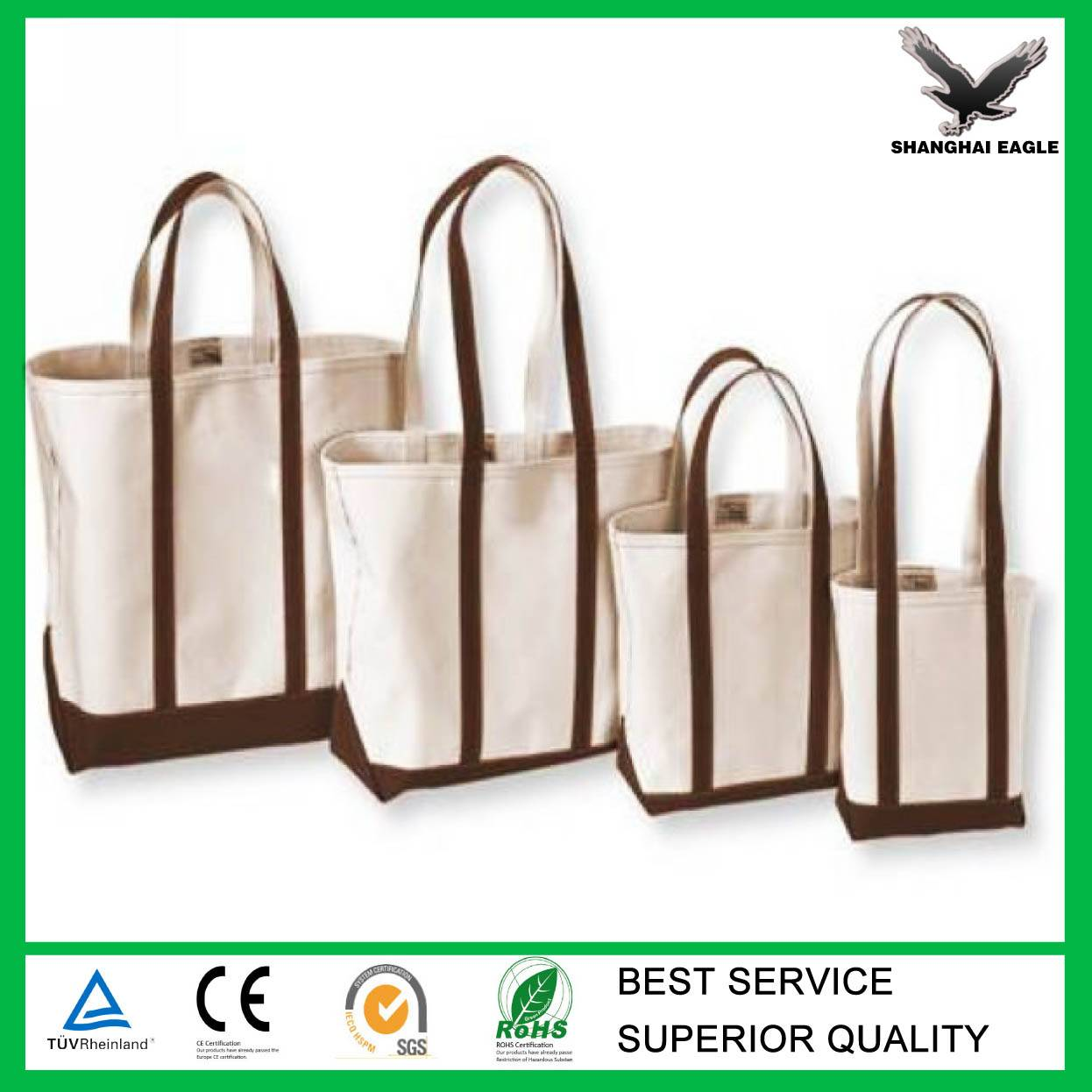 Wholesale Custom Organic cotton bag, Shopping Canvas Cotton Bag