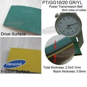 Power Transmission Belt (PT/GG10/20 GR/YL-2.0)