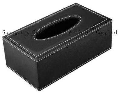 leather home paper box, office desktop tissue box, car paper box, tissue box PJ-001