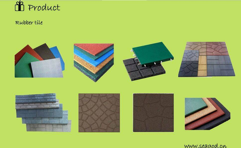 rubber paver/rubber tile