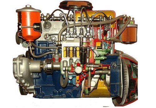 4 Stroke 6 Cylinder Diesel Engine ( Motor Driven Actual Cut-Sectional )