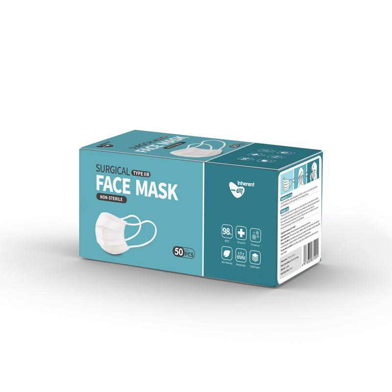 CE EN14683 TYPE IIR FLUID RESISTANT DISPOSABLE SURGICAL FACE MASK