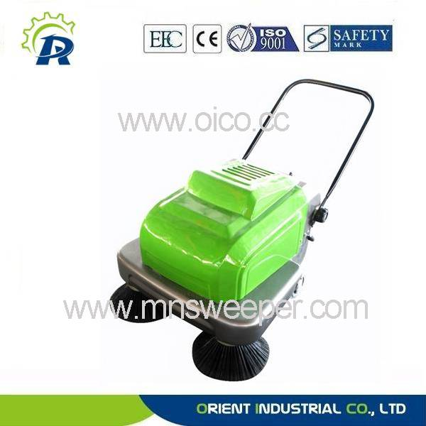 Small outdoors floor sweeping machine