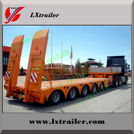 3 Axle 50t Lowbed Semi Trailer