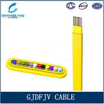 High Quality Gjdfjv 4-12 Core Indoor Flat Fiber Ribbon Cable Optical Fiber Cable China Manufacturer