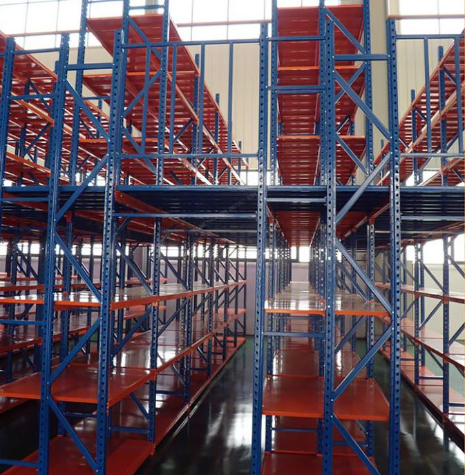 Two-Layer Industrial Heavy Duty Warehouse Storage Metal Mezzanine Floors Rack System In Qingdao
