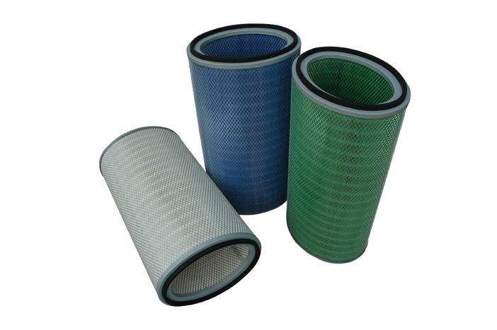 HEPA air filter for dust collectors