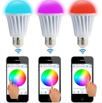 RGBW bulb bluetooth led strobe light,IOS and Android application for led strobe light