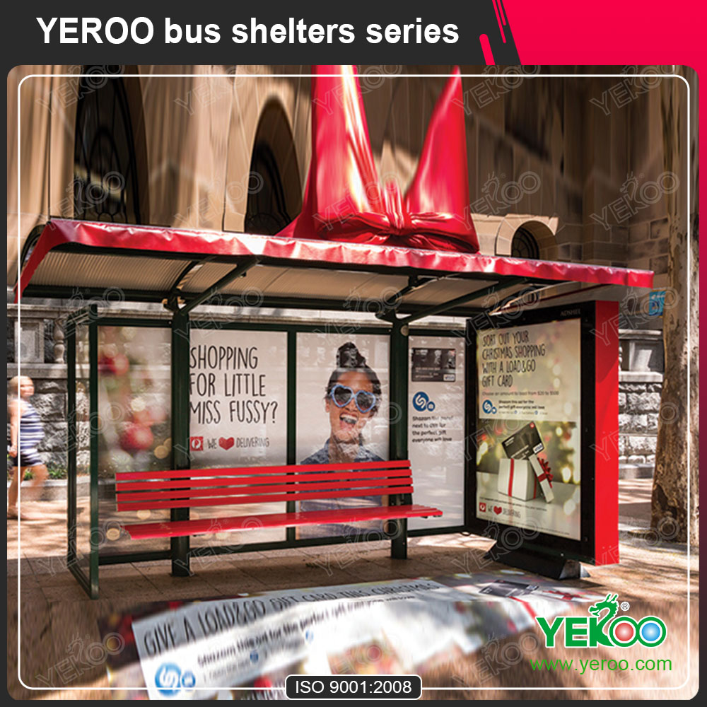 Bus stop shelter with PC proof and advertisement light box
